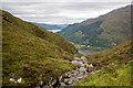 NG9519 : The Allt a' Chruinn tumbles from here to Loch Duich by Julian Paren
