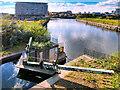 SJ8196 : Pomona No 3 Dock, Manchester Ship Canal by David Dixon