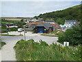 SY8279 : South West Coast Path, Lulworth Cove by Malc McDonald