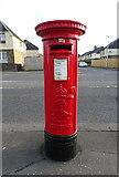 NS6162 : Edward VII postbox  on Cambuslang Road, Rutherglen by JThomas