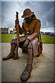 "NZ4349 : Steel Statue ""Tommy"", Seaham, County Durham, by Brian Deegan"