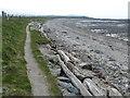 SH6674 : Wales Coast Path along Lavan Sands by Mat Fascione