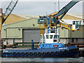 SZ0190 : A tug at New Quay, Poole by Chris Allen