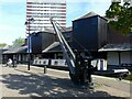 SP3379 : Crane and warehouses, Coventry Canal basin by Alan Murray-Rust