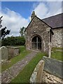 SO4101 : Path to the church entrance, Gwernesney, Monmouthshire by Jaggery