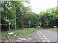 TQ5560 : Rural road junction near West Kingsdown by Malc McDonald