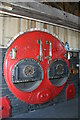 SU2662 : Crofton Pumping Station - preserved boiler front by Chris Allen