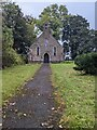 SO3301 : Path to St Michael's Church, Glascoed by Jaggery