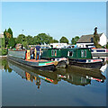 SJ9922 : Narrowboats at Great Haywood in Staffordshire by Roger  Kidd