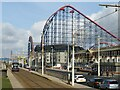 SD3032 : Blackpool tramway and Pleasure Beach by Malc McDonald