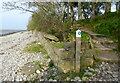 SH6172 : Wales Coast Path at the Traeth Lafan Nature Reserve by Mat Fascione