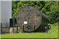 SU2662 : Crofton Pumping Station - spare Lancashire boiler by Chris Allen