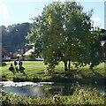 ST2687 : Small lake, Jubilee Park, Rogerstone (1) by Robin Drayton