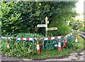ST1236 : SCC fingerpost near the hamlet of Lawford, Crowcombe parish by Marika Reinholds