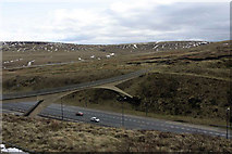 SD9814 : The Pennine Way footbridge over the M62 by Andy Stephenson