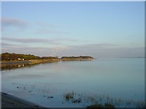 TQ8068 : Sharp's Green Bay at high tide by Penny Mayes