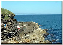 ND1071 : On the rocks below the lighthouse, Scrabster, Caithness by Dorcas Sinclair