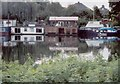 TQ1774 : Houseboats on the Thames behind Richmond Palace by D Williams