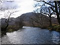 NM9464 : River Gour by Richard Webb