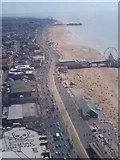 SD3036 : Blackpool Golden mile from above by Mike Hartley