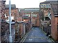 SJ8749 : 'Back to back' housing in Burslem by Val Vannet