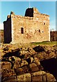 NS1748 : Portencross Castle by Anne Burgess