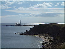 NZ3475 : St Mary's lighthouse Old Hartley Northumberland by John Tomlinson