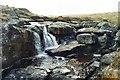 SX6281 : East Dart waterfall by Richard Knights