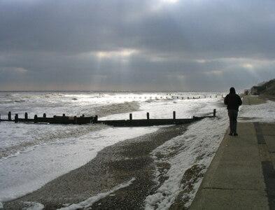 TM5176 : After the storm - Southwold Beach Southwold Suffolk by John Winfield