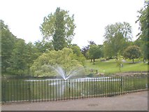 TM1645 : Round pond , Christchurch Park by michael wade