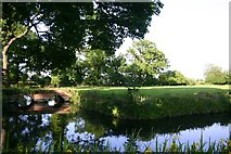 TL8063 : Moats of former Little Saxham Hall by Bob Jones