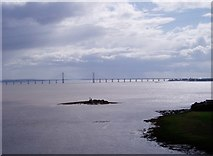 ST5590 : New Severn Bridge from the Old by Bob Tinley