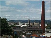 SE1537 : Mill chimneys at Shipley by David Spencer