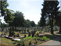 TQ5087 : Oldchurch Cemetery, Oldchurch Road, Romford, Essex by John Winfield