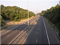 SU4117 : Two-lane link motorway between the east and west M27 by Jim Champion