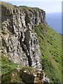 SY9576 : Crumbling limestone cliffs of Emmetts Hill, Isle of Purbeck by Jim Champion