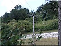 TQ2152 : Electricity Pole near Betchworth by Hywel Williams