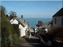 SS3124 : Main Street, Clovelly, Devon by Clive Nicholson