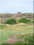 NZ5626 : Pill Box on Former Slag Tip, Coatham Dunes by Mick Garratt