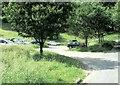 NY3605 : Car park near Pelter Bridge by Nigel Davies