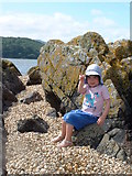 NX8354 : Cockle Shell Beach, near Kippford, Dumfries & Galloway by Elizabeth Veitch
