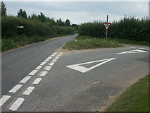 TG1509 : Junction of Harts Lane and Long Lane, Bawburgh by Katy Walters