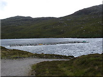 NG8378 : Salmon Farming on Loch Tollaidh by Roger McLachlan