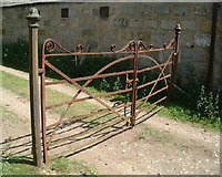 NO2694 : Wrought iron gate at steading by Old Kirkyard, Crathie by paddy heron