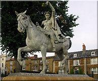 SP4540 : Statue of the Fine lady. Near Banbury Cross by Geoffrey Lloyd