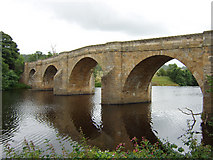NY9170 : The bridge over the North Tyne at Chollerford by Peter Brooks