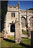 SX1867 : St Neot: crosses in churchyard by Martin Bodman