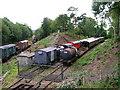 TQ5336 : Storing railway stock, Groombridge. by Simon Carey