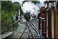 SH5938 : Ffestiniog railway at Minffordd by Martin Bodman