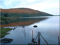 SH5644 : Llyn Cwm Ystradllyn by David Medcalf